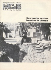 Michigan Contractor & Builder Magazine - Climax - 1983