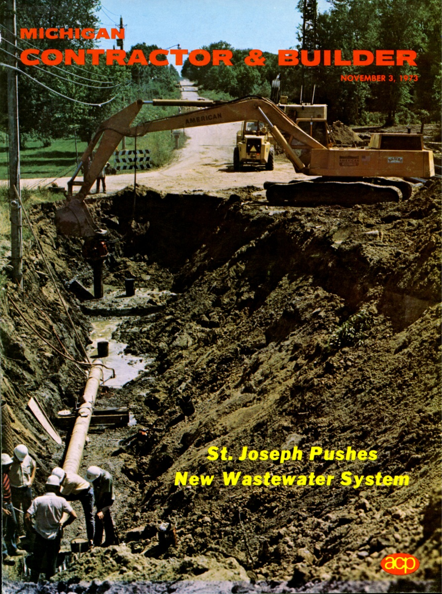 Michigan Contractor & Builder Magazine - St. Joseph - 1973